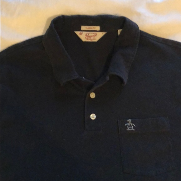 Original Penguin Shirts Mens Penguin Black Polo Shirt Poshmark